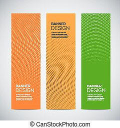 Banners with abstract colorful random geometric background