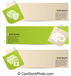 Banners with attached notepapers