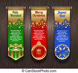 Banners with Christmas greetings