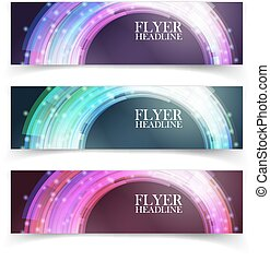 Banners with colorful cells