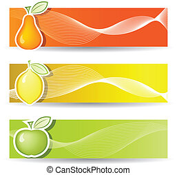 Banners with Fruits