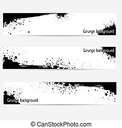 Banners with grunge elements