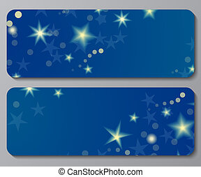 Banners with night sky background