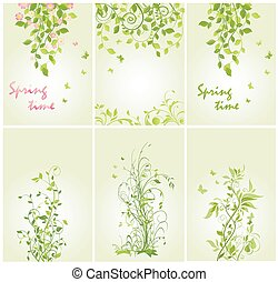 Banners with spring trees