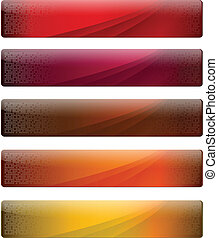 banners with warm colours for your website, vector.