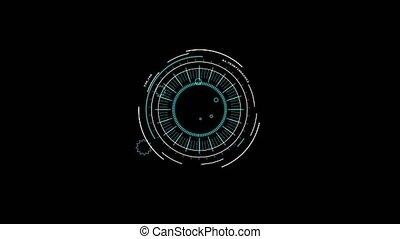 bannière, étoile, aile, côté, rotation, élément, annonce, numérique, rouler, mètre, 12, dehors