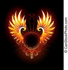bannière, ailes, phénix