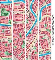 bannière, carte, city., inconnu