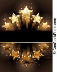 bannière, cinq, étoiles