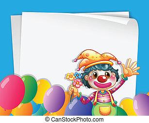 bannière, clown