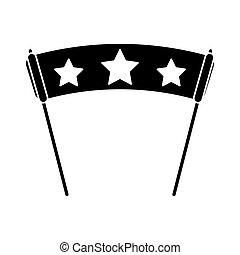 bannière, conception, isolé, étoile