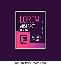 bannière, conception moderne abstraite, gabarit