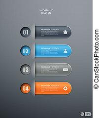 bannière, conception, options, infographics