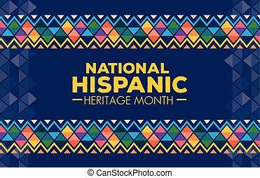 bannière, culture, ou, héritage, octobre, américains ...