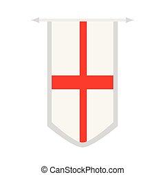 bannière, drapeau, angleterre