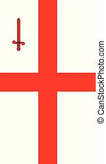 bannière, drapeau, londres, ville