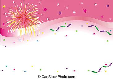 bannière, fête, célébration