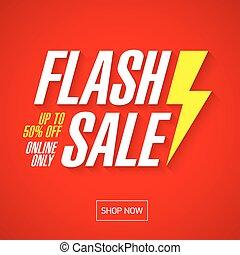 bannière, flash, conception, vente
