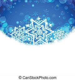 bannière, flocons neige, noël