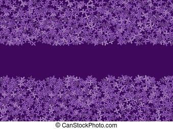 bannière florale, lilas