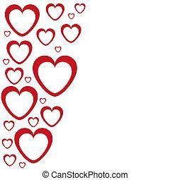 bannière, forme coeur