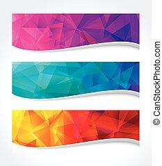 bannière géométrique, couleurs
