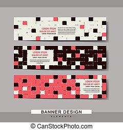 bannière, gabarit, moderne, conception