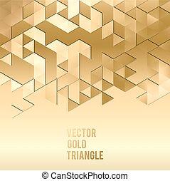 bannière, gabarit, résumé, or, fond, shapes., design., triangle