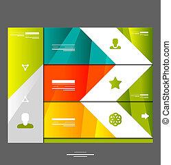 bannière, infographic, éléments conception