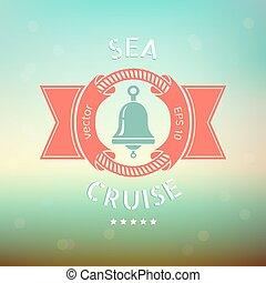 bannière, mer, croisière