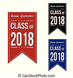 bannière, mettez stylique, 2018, classe