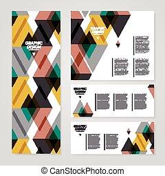 bannière, moderne, conception, gabarit