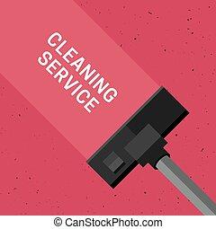 bannière, nettoyage, service