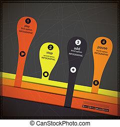 bannière, options, infographics