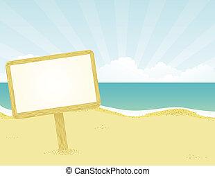bannière, plage.