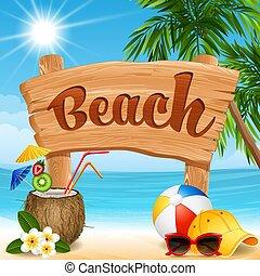 bannière, plage