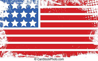 bannière, résumé, 4ème juillet, drapeau