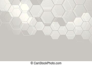 bannière, résumé, moléculaire, conception, structure