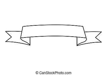 Simple noir banni re ruban ic ne simple isol arri re plan noir blanc banni re ruban - Dessiner un ruban ...