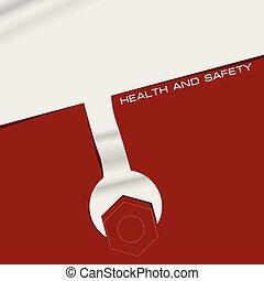 bannière, sécurité, santé, créatif