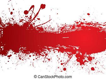 bannière, sanguine, bande