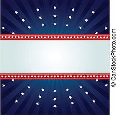 bannière, spangled, étoile