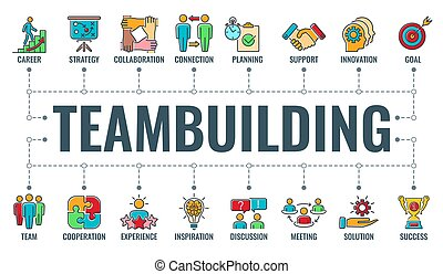 bannière, typographie, teambuilding, collaboration