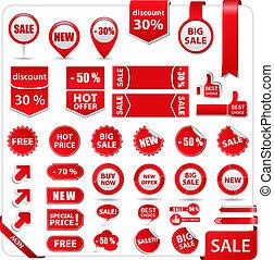 bannières, étiquettes prix