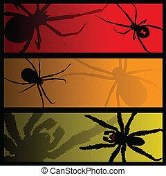 bannières, araignés