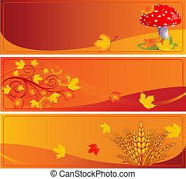 bannières, automne