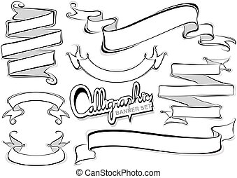 bannières, calligraphic