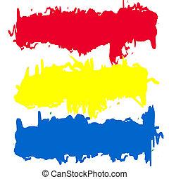 bannières, couleurs, résumé, primaire
