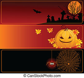 bannières, halloween