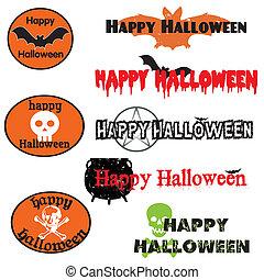 bannières, halloween, graphiques